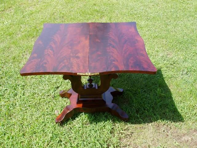 Unusual Antique Folding Table Refinish-table1af.jpg