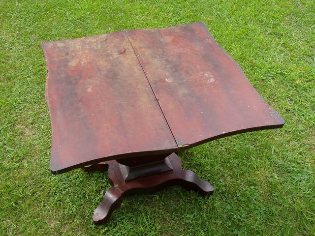 Unusual Antique Folding Table Refinish-table2bf.jpg