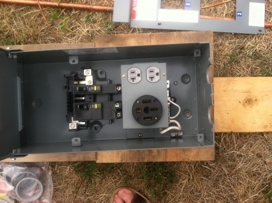How To Wire Temporary Service Pole - Electrical
