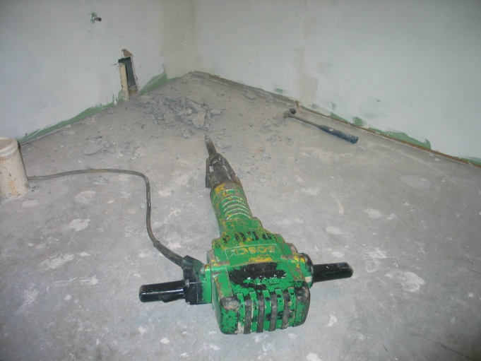 Do we have to break the concrete floor for a shower drain?-hammer.jpg