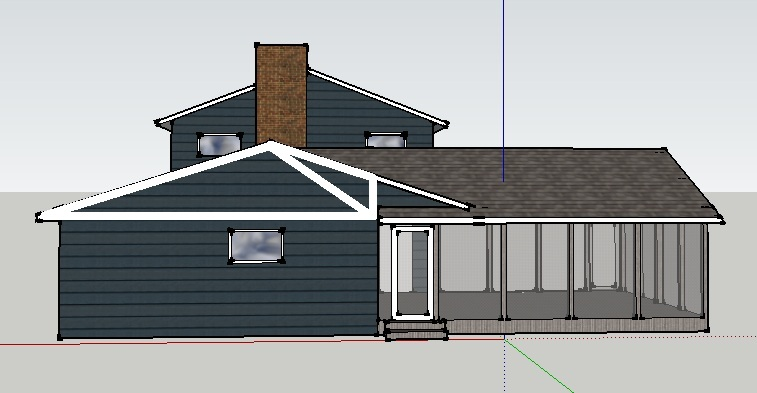 How to support garage roof -- cutting header for new addition-then1.jpg