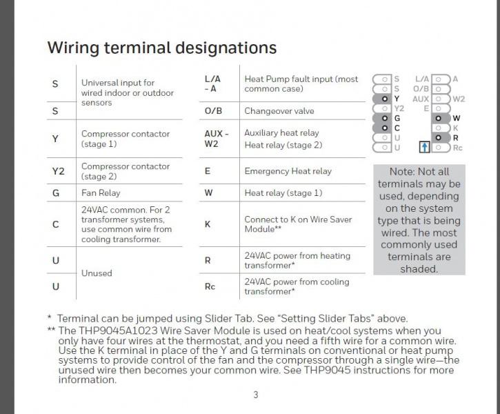 help wiring a new honeywell thermostat hvac diy. Black Bedroom Furniture Sets. Home Design Ideas