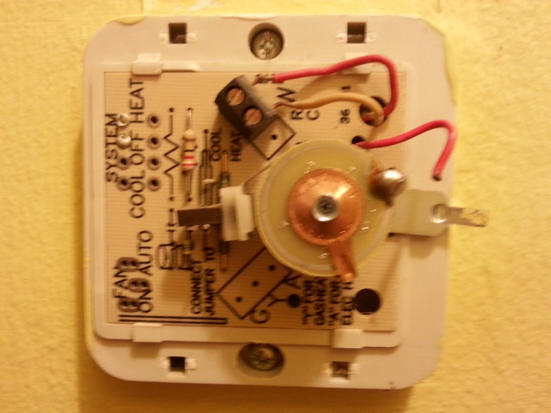 Changing 3-wire Heat Only Thermostat - Hvac