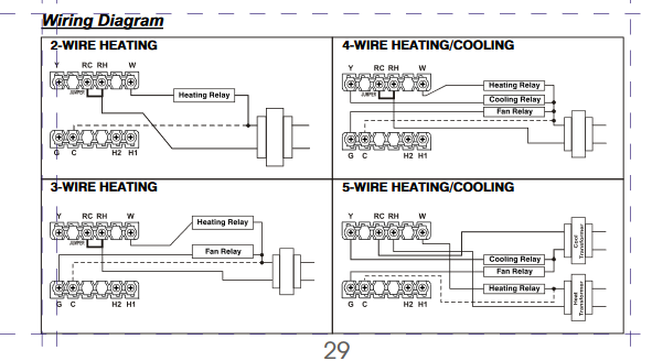 ... Trane XV80 - Single Stage Heating Only Wiring-thm501wiring.png