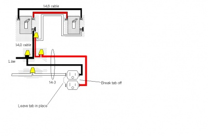 wiring diagram for half hot outlet wiring image how to wire romex to 2 3 ways to a half hot receptacle on wiring diagram
