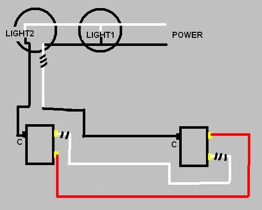three way switch  two lights - electrical