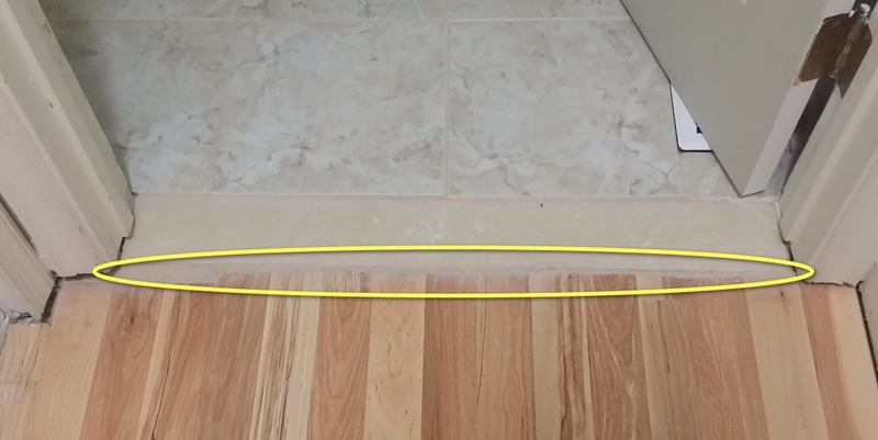 Tile To Wood Transition And Door Frame Flooring Diy