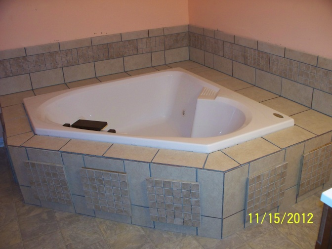 corner whirlpool tub tile work with shower jetted dimensions jacuzzi installation