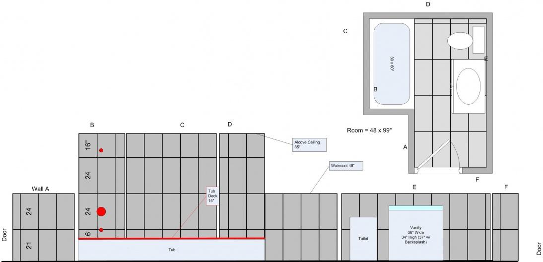 Floor tiles layout