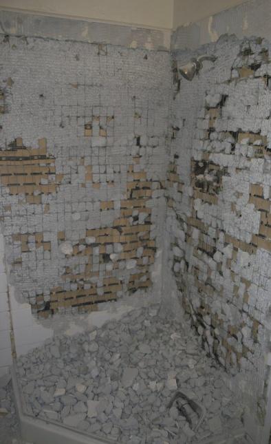 Removing Corner Shower Tile With Pictures Tileremoval Jpg