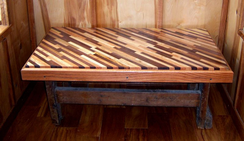 Diagonal Table from Wood Scraps-topdone.jpg