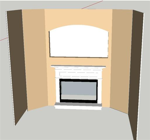"What to do ""behind"" electric fireplace framing?-traditional.jpg"