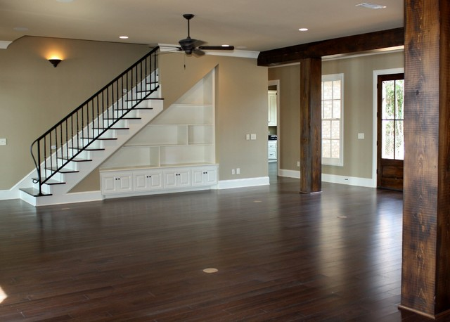 Open-Riser Staircase Help - Convert or Rebuild?-traditional-living-room.jpg