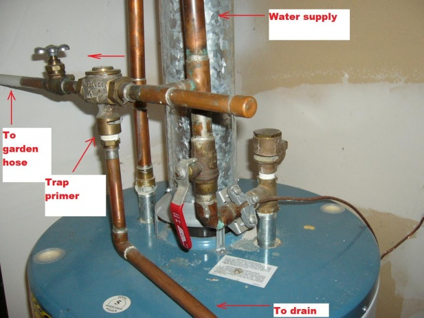 How To Connect A Trap Primers For A Hot Water Tank