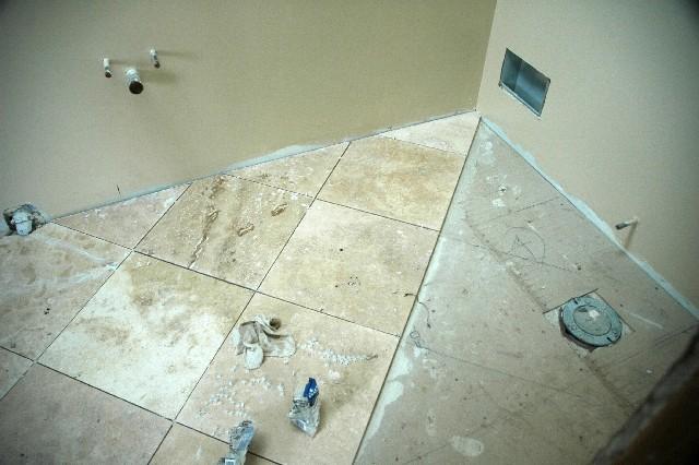 18x18 Travertine Stone Tile Install...-trav.jpg