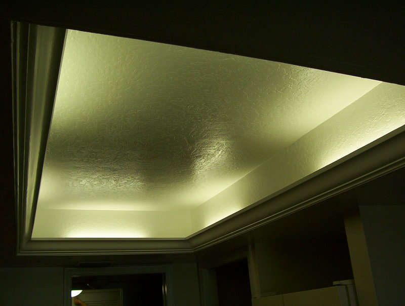 Aka Tray Raised Ceiling With Lights