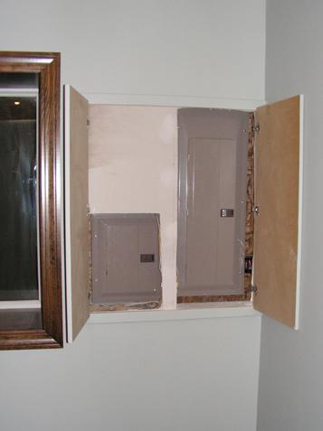 Panel Behind Door In Wall Electrical Diy Chatroom Home