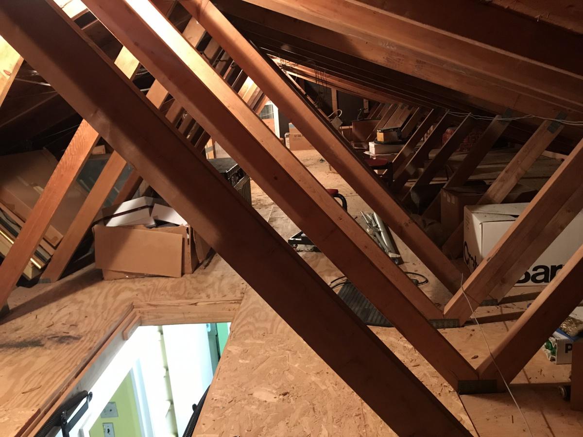 Remove Kitchen Walls Below Fink Truss Attic Load Bearing Or Not Diy Home Improvement Forum