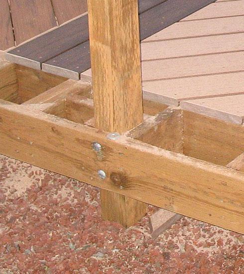 Deck Railing Post Installation... - Building ...