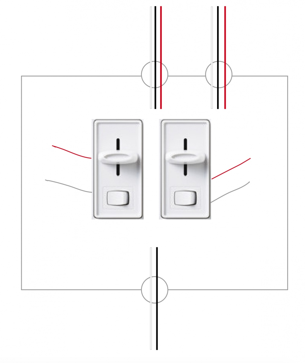 help wiring two switches in one box with extra wires
