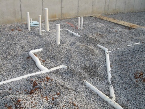 D Pvc Pipes New Concrete Slab Under Slab Sans Grey Water on Kitchen Sink Plumbing In Concrete Slab