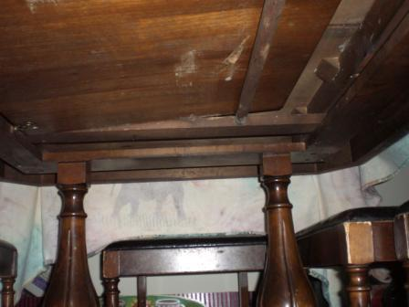 Wobbly dining table, and advice on refinishing.-underneath.jpg