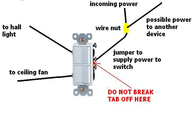 Dividing From One Wall Switch To
