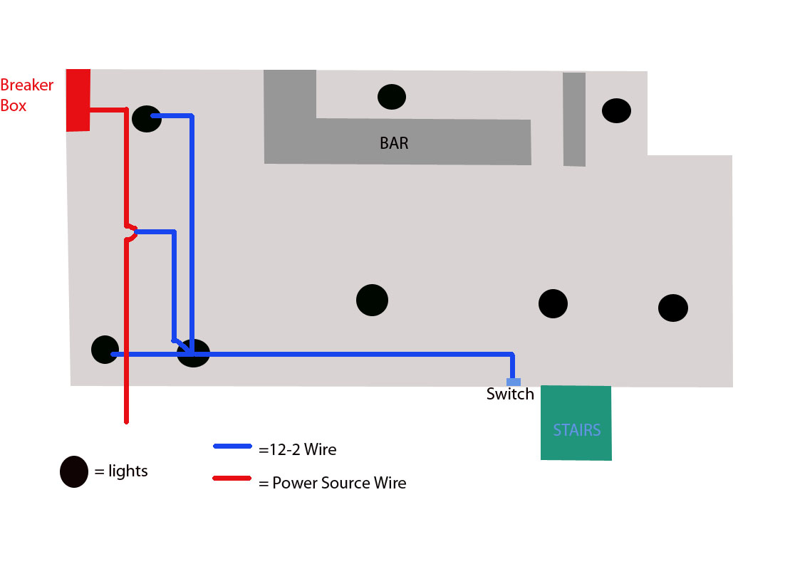 Two Switches With Light On Wiring Multiple Can Lights In Series