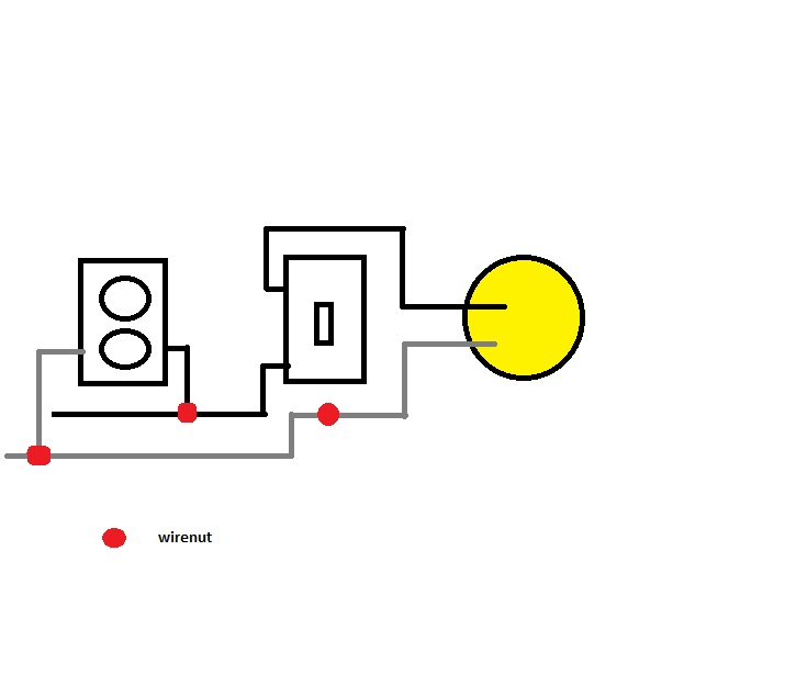adding overhead light to an existing switch