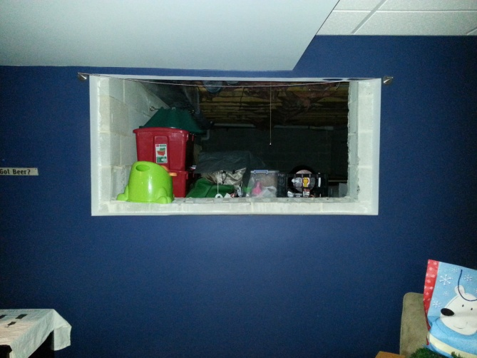 Crawl Space Finishing : Building a quot door for crawl space storage in finished