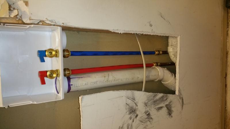 Replace Washing Machine Outlet Box Plumbing Diy Home
