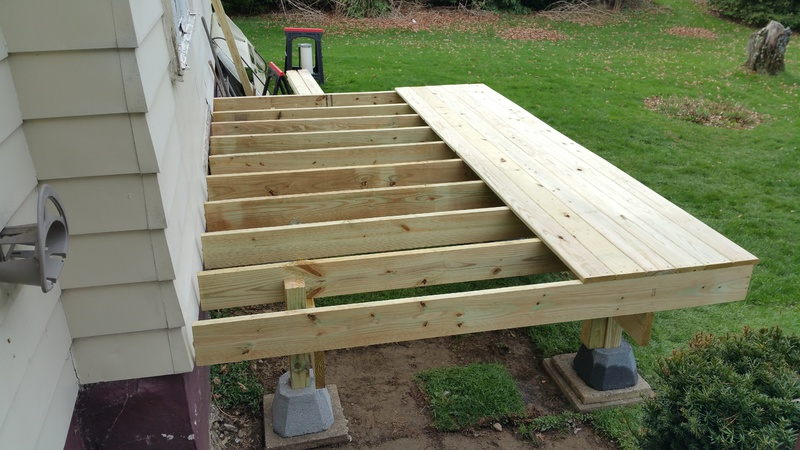 Concrete 4x4 post footings cheap junk general diy for How to build a cheap floating deck