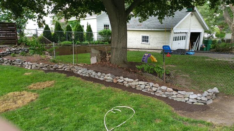Retaining Wall Sloped Flower Bed Help Gardening Forum