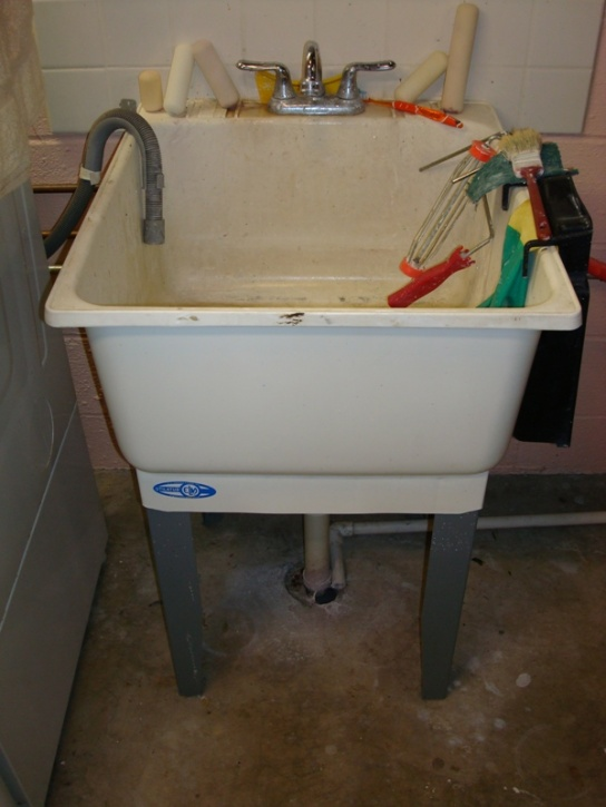 Slop Sink Drain : the front from the drain under the utility sink the utility sink ...