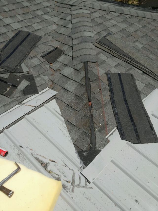Asphalt Roofing Transition To Metal Roof Roofing Siding