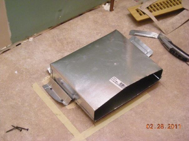 Under Kitchen Cabinet Air Duct