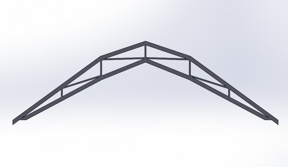 Gambrel Roof / Steel Roof / Insulation Vaulted Truss