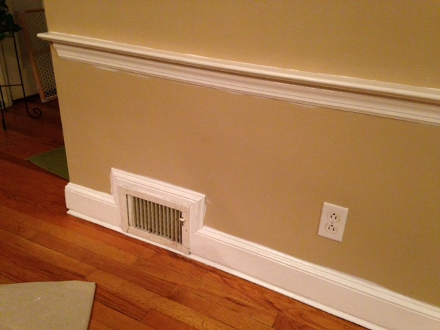 Vent Runs Into New Baseboard Carpentry Diy Chatroom
