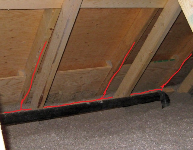 Attic Ridge Vent Use Of Baffles Or Fanfold Insulation