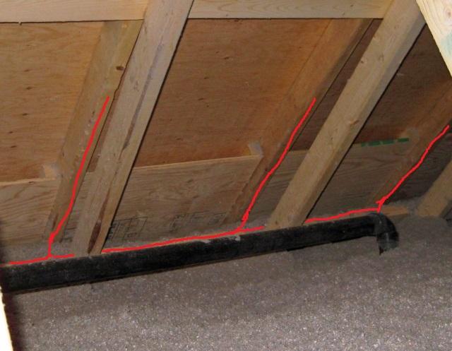 Attic Ridge Vent Use Of Baffles Or Fanfold Insulation