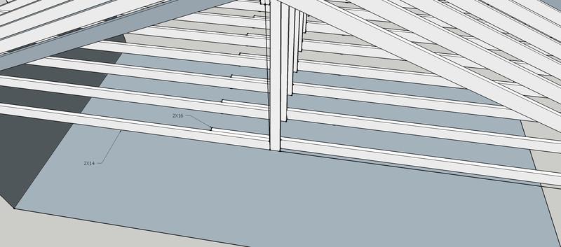 Shoring Up Sagging Ceiling Joists Carpentry Diy