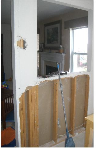 Is this wall load bearing - pictures attached-wall-between-kitchen-living-room.jpg