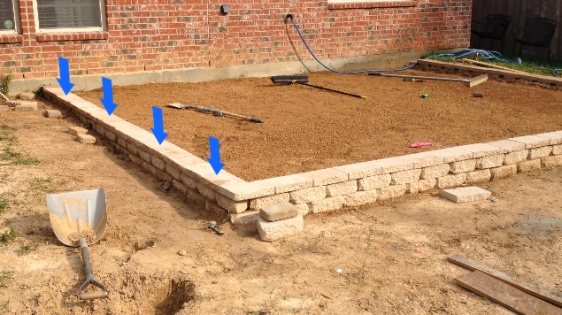 Attractive Paver Patio Slope Wall Fix 2