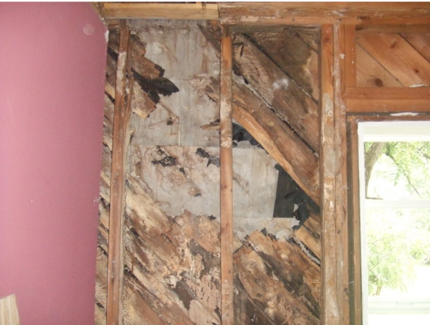 water damage to exterior wall with rot and mold-wall.jpg
