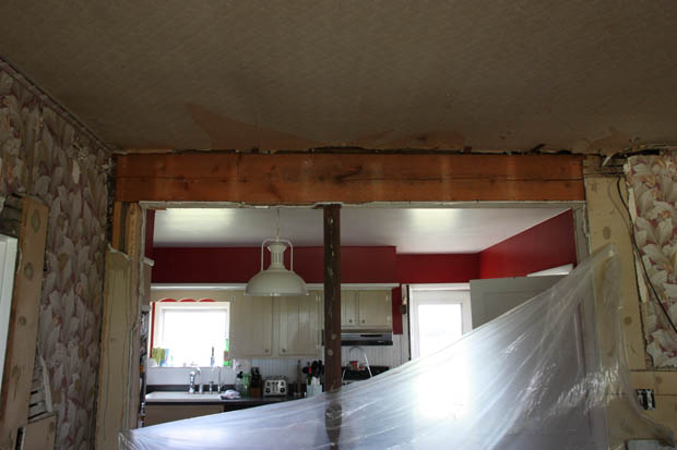 "2 2x12"" Header - Want to remove post-wall.jpg"