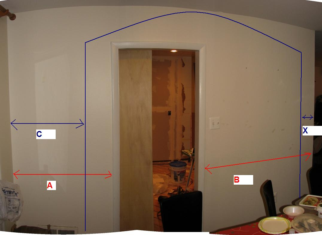 Removing Wall Making Arc Need To Determine Dimensions Wall2 Jpg