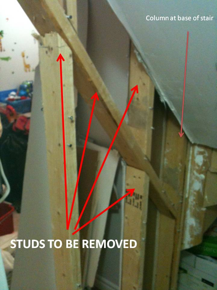 Removing wall under stairs. is it safe to remove these studs?-wall3.jpg