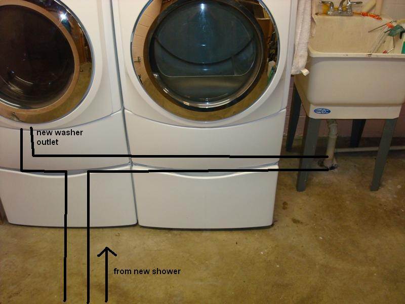 Awesome ... Installing Shower In Basement Washer ...