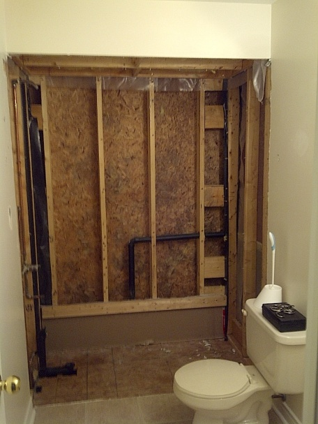 Insulating walls behind shower-washroom.jpg