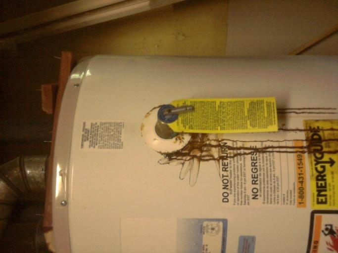 Water Heater Rusty Leak Plumbing Diy Home Improvement